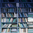 Bookshelves full of books — Stock Photo