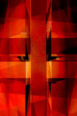 Vintage röd religiösa cross bakgrund — Stockfoto