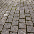 Cobblestone path pattern background — Stock Photo