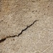 Cracked concrete path — Stock Photo
