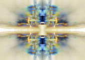 Abstract mirror image background — Stock Photo