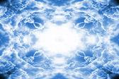 Dramatic light blue clouds border — Stock Photo