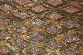 Rusty drain cover background — Stock Photo
