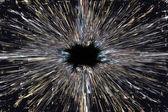 Black hole explosion background — Stock Photo
