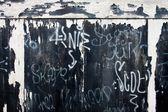 Graffiti e porte garage — Foto Stock