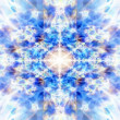 Stock Photo: Light blue kaleidoscope background