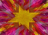 Yellow grunge explosion background — Stock Photo
