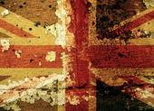 Grunge uk flagge auf einer alten mauer — Stockfoto