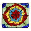 Painted glass tile — Foto de Stock