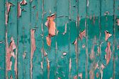 Green peeling paint background — Stock Photo