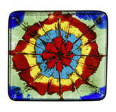 Painted glass tile — Stock Photo