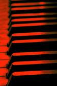 Old piano keys close up — Stock Photo