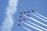 Red Arrows formation — Stockfoto