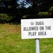 No dogs allowed sign — Stock Photo #30956283