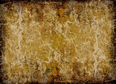 Brown and yellow scratched grunge background — Stock Photo