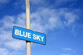 Blue sky sign — Stock Photo