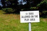Nie Psy dozwolone znak — Zdjęcie stockowe