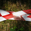 Red and white perimeter tape — Stock Photo