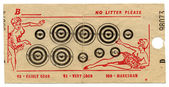 Fairground targets with bullet holes — Stock Photo