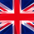 Distorted United Kingdom Union flag — Stock Photo