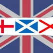 Union Jack flag from the flags of England, Scotland and Ireland — Stock Photo