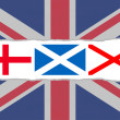 Union Jack flag from the flags of England, Scotland and Ireland — ストック写真