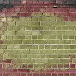 Stained brick wall grunge background — Stock Photo