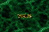 Fondo verde virus — Foto de Stock