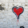 Red heart grafitti — Stock Photo #30998481