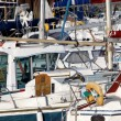 Stock Photo: Yachts moored in marina