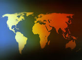 Day and night world map selective focus — Stock Photo