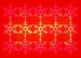 Christmas grunge snowflake pattern — Stock Photo