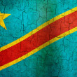 Grunge Democratic Republic of The Congo flag — Stock Photo