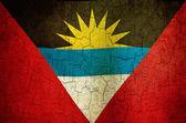 Grunge Antigua and Barbuda flag — Stock Photo