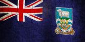 Grunge Falkland Islands flag — Stock Photo