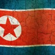 grunge 朝鲜国旗 — 图库照片