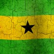 Stock Photo: Grunge Sao Tome and Principe flag