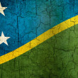 Grunge Solomon Islands flag — Stock Photo