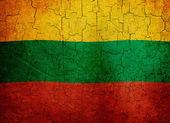 Bandera de lituania grunge — Foto de Stock