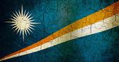 グランジ マーシャル諸島の国旗 — ストック写真