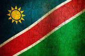 Bandera namibia grunge — Foto de Stock