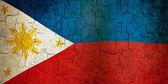 グランジのフィリピンの旗 — ストック写真