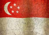 Grunge Singapore flag — Stock Photo