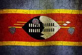 Bandera de suazilandia grunge — Foto de Stock