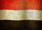 Grunge Yemen flag — Stock Photo