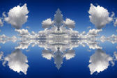 Blue reflected clouds background — Stock Photo