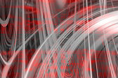 Red and grey swirls background — Foto Stock