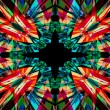 Colourful kaleidoscope background — Stock Photo