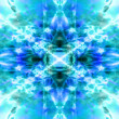 Light blue kaleidoscope background — Stock Photo