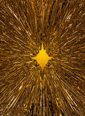 Golden starburst background — Foto Stock